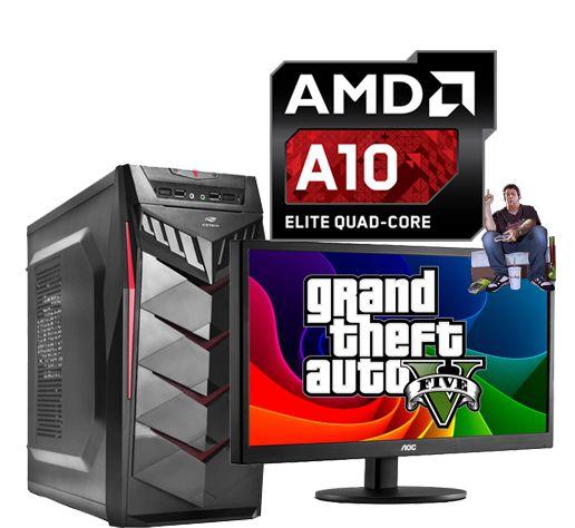 PC GAMER INFOTECLAN A10 3.6 GHZ 8GB HD 1TB  Monitor 18.5 LED AMD