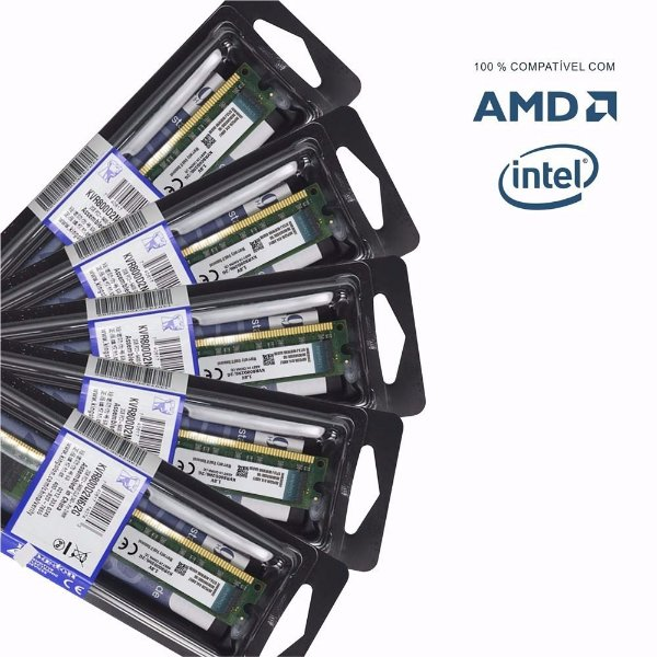Memórias Kingston 2gb Ddr2 800mhz Pc original