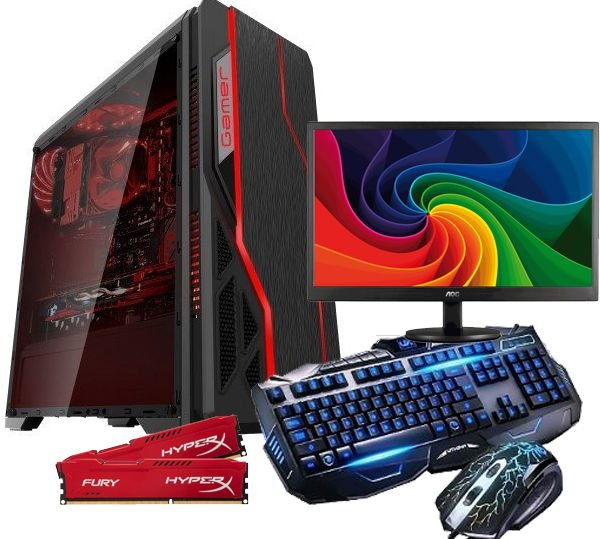 Pc gamer Amd A4-6300 3.7 ghz 8GB hyper x hd 1TB , GEFORCE GT 1030 DDR5 MONITOR 18.5 LED