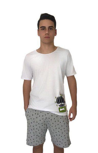 Conjunto Pijama Masculino Cactos Mescla