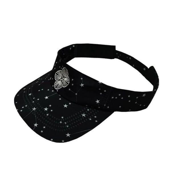 Viseira de Praia Constelação de Estrelas Preto Marétoa