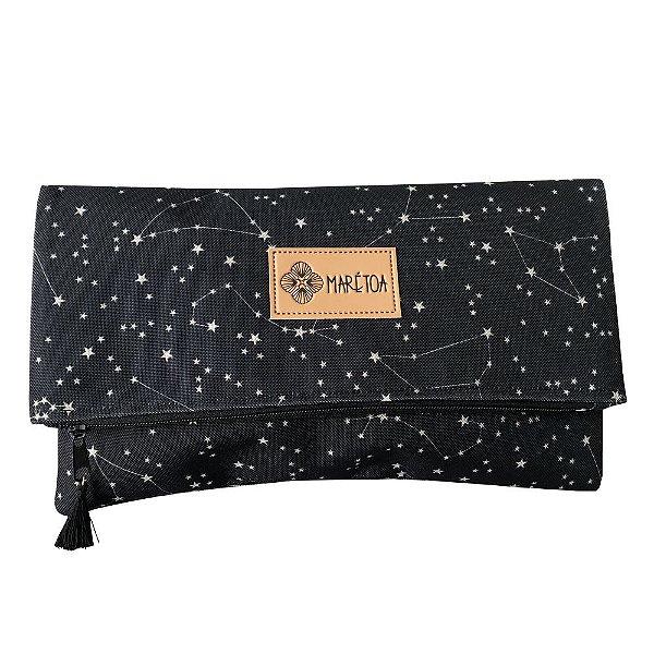 Carteira de Mão Ecológica Constelação Estrelas Preto