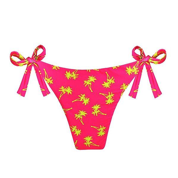 Calcinha de Biquíni Empina Bumbum Tropical Pink