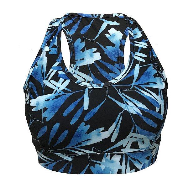 Top Vivie Fitness Aquarela Azul