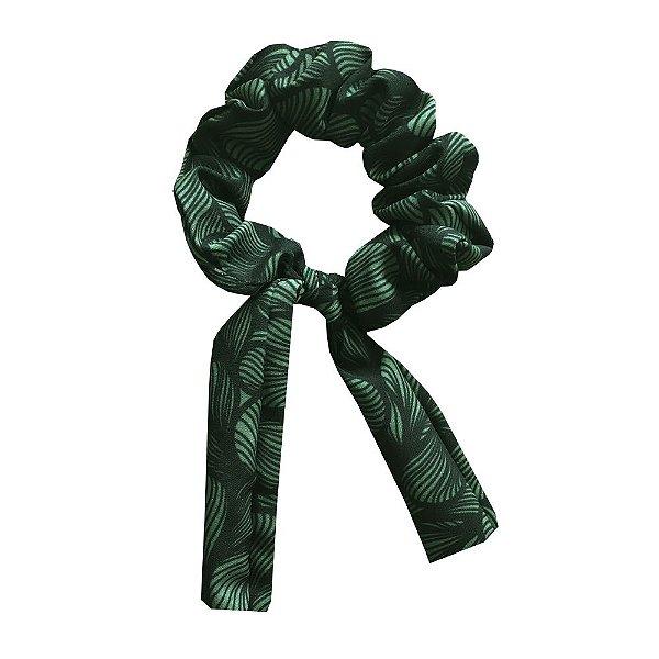 Amarrador Scrunchies Ondas Verde
