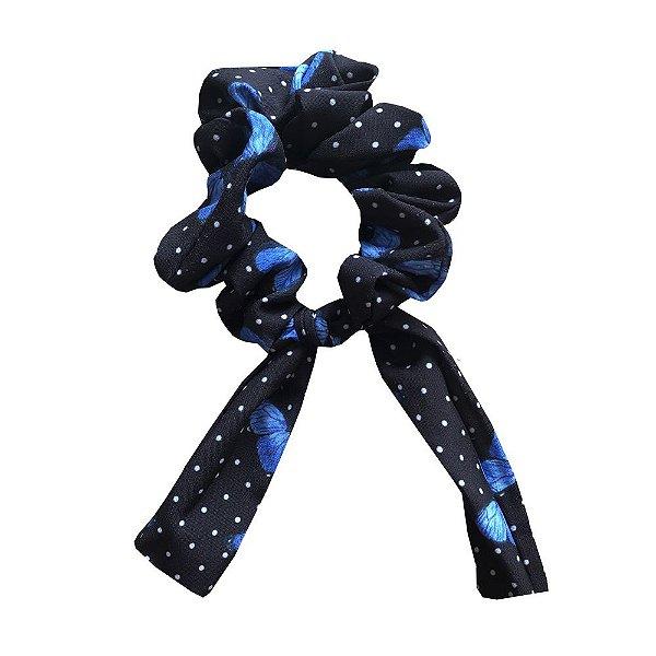 Amarrador Scrunchies Borboletas Azul