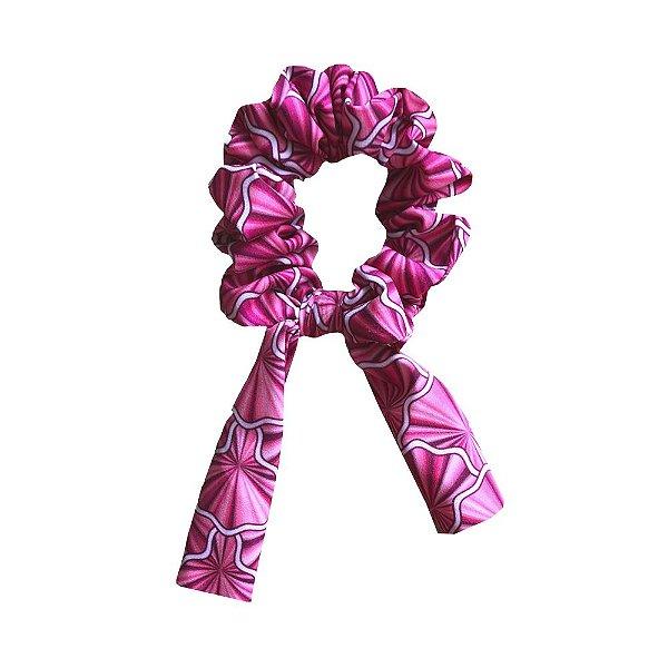 Amarrador Scrunchies Leque Rosa