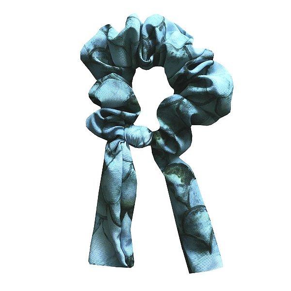 Amarrador Scrunchies Sereia Azul Turquesa