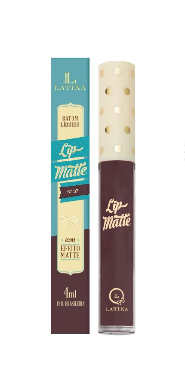 Batom Líquido Latika Lip Matte Nude nº37