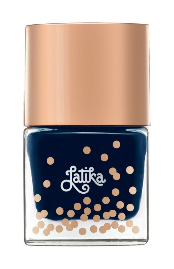 Latika Nail Confetti Azul Petroleum