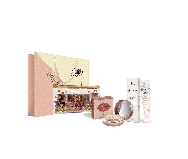Powder Bege Claro + BB cream Bege Claro + Kit Necessaire Confetti