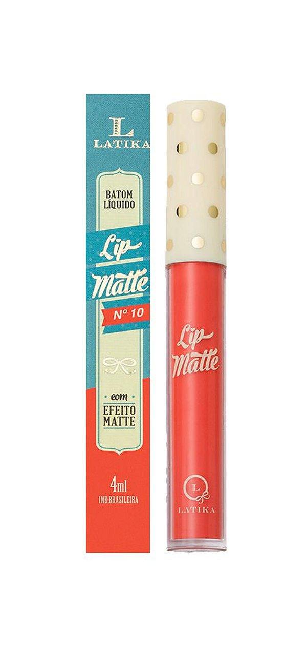 Lip Matte Latika Batom Líquido Coral nº10