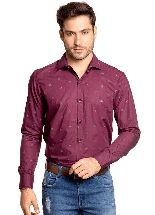 1ca2896052 Camisa Slim Fit Estampada Origami - Tony Menswear - Comprar Camisa ...