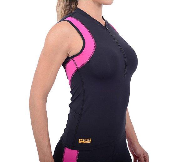 Top DX-3 Feminino de Triathlon - Alta Compressão
