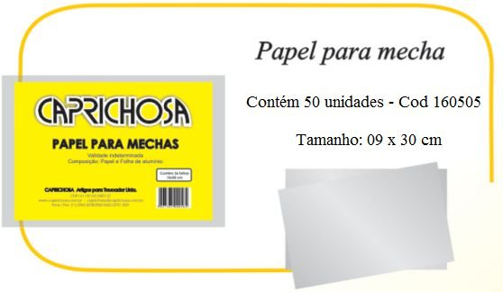 Papel para Mechas - 09 x 30 cm