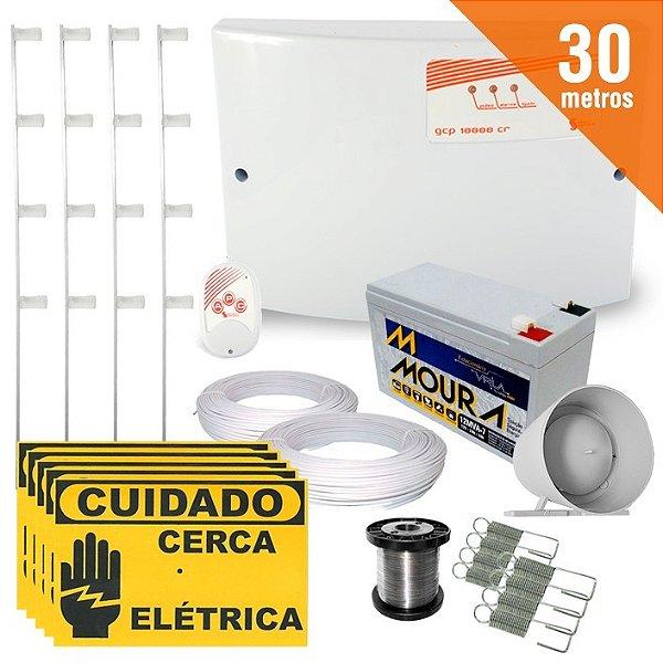 Kit Cerca Elétrica Completo P/ 30 Metros de Muro Central GCP 10000 Light - SecuriService