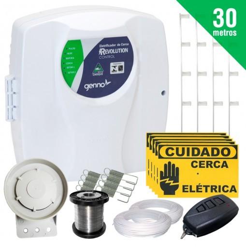 Kit Cerca Elétrica Revolution Control Genno 30 Metros + Brinde (Sem Bateria)