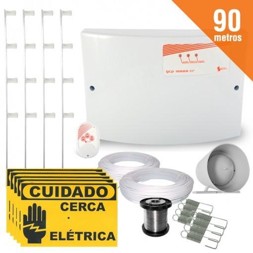 Kit Cerca Elétrica Completo P/ 90 Metros de Muro Central GCP 10000 Light - SecuriService