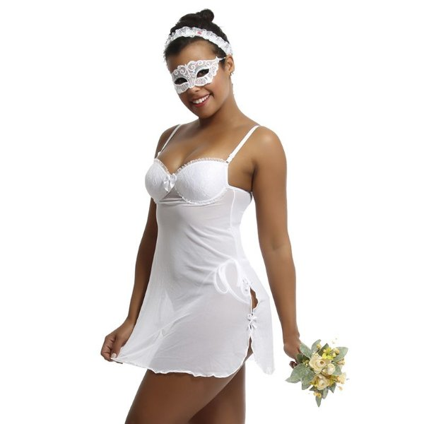 Camisola fantasia noiva noivinha mascarada
