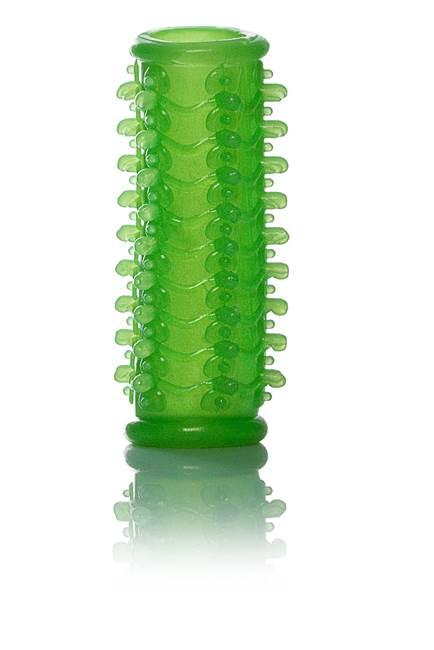 Capa peniana massageadora sem cabeça - 9cm - cor fosforescente