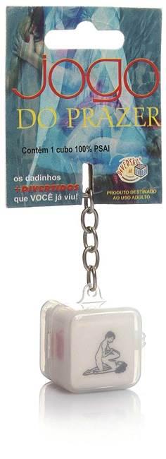 Dado jogo do prazer hétero chaveiro - embalagem com 1 unidade