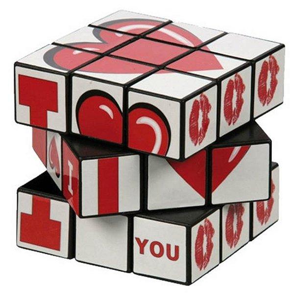 Cubo mágico com dizeres românticos – i love you - oot