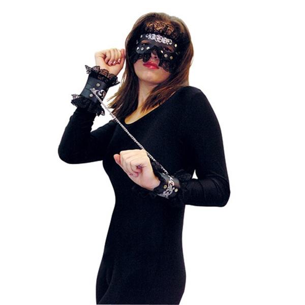 Kit com máscara e algema - success