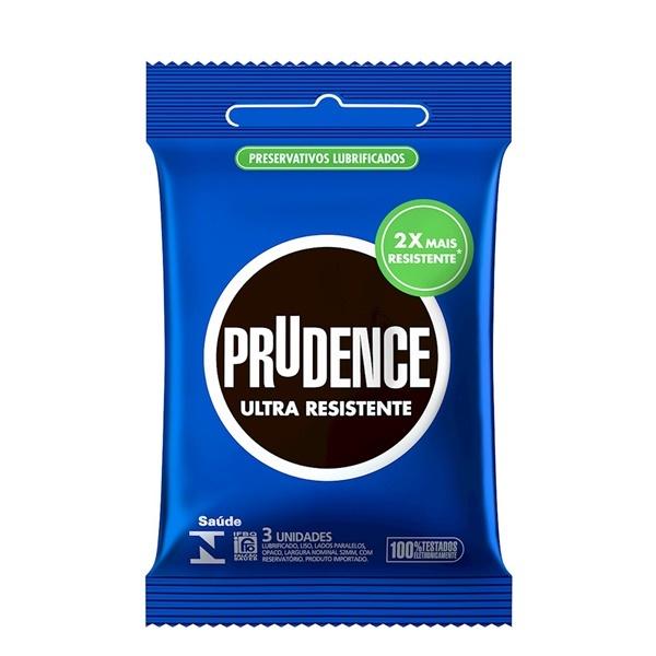 Preservativo camisinha prudence ultra resistente - 3uni