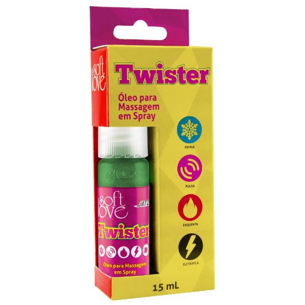 SoftLove Twister jato 15ml - estimulador de orgasmo feminino
