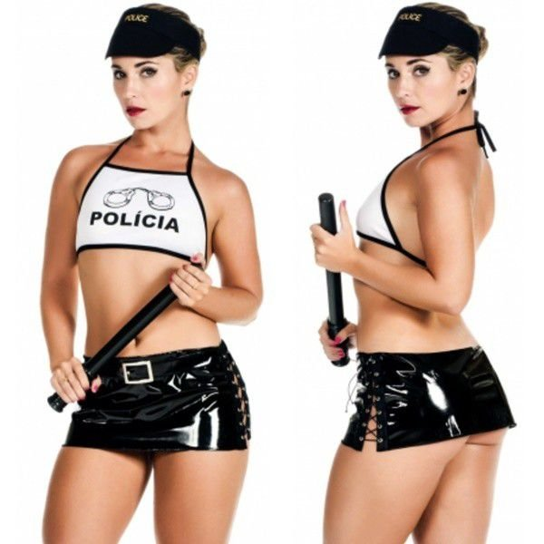 Fantasia sensual policial plus size