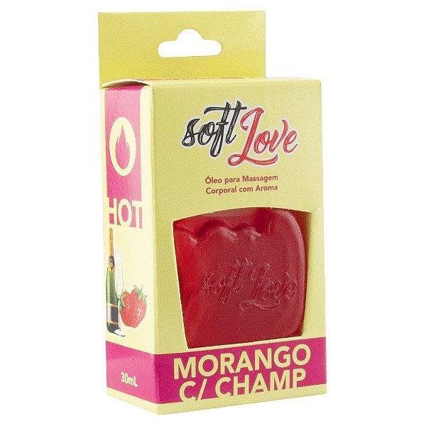 Gel comestível hot 30ml - morango c/ champ.
