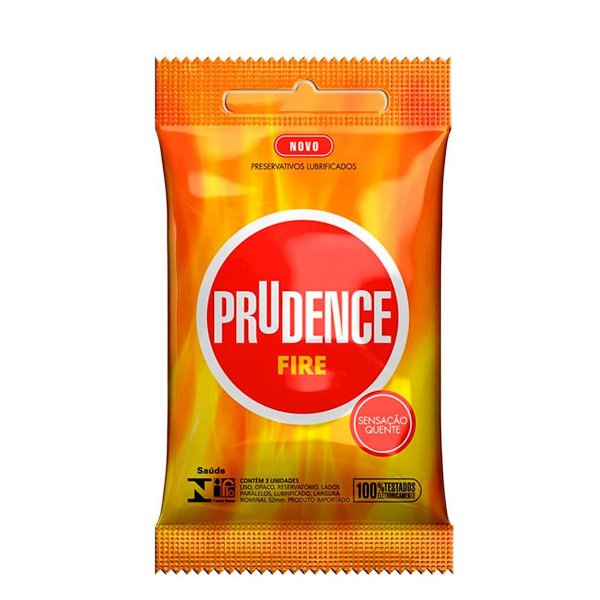 Preservativo camisinha prudence fire - 3uni