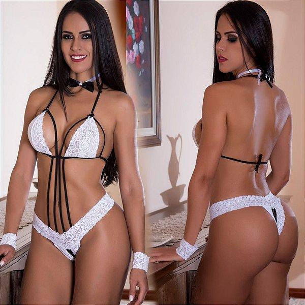 Fantasia erótica Body Garçonete Sensual