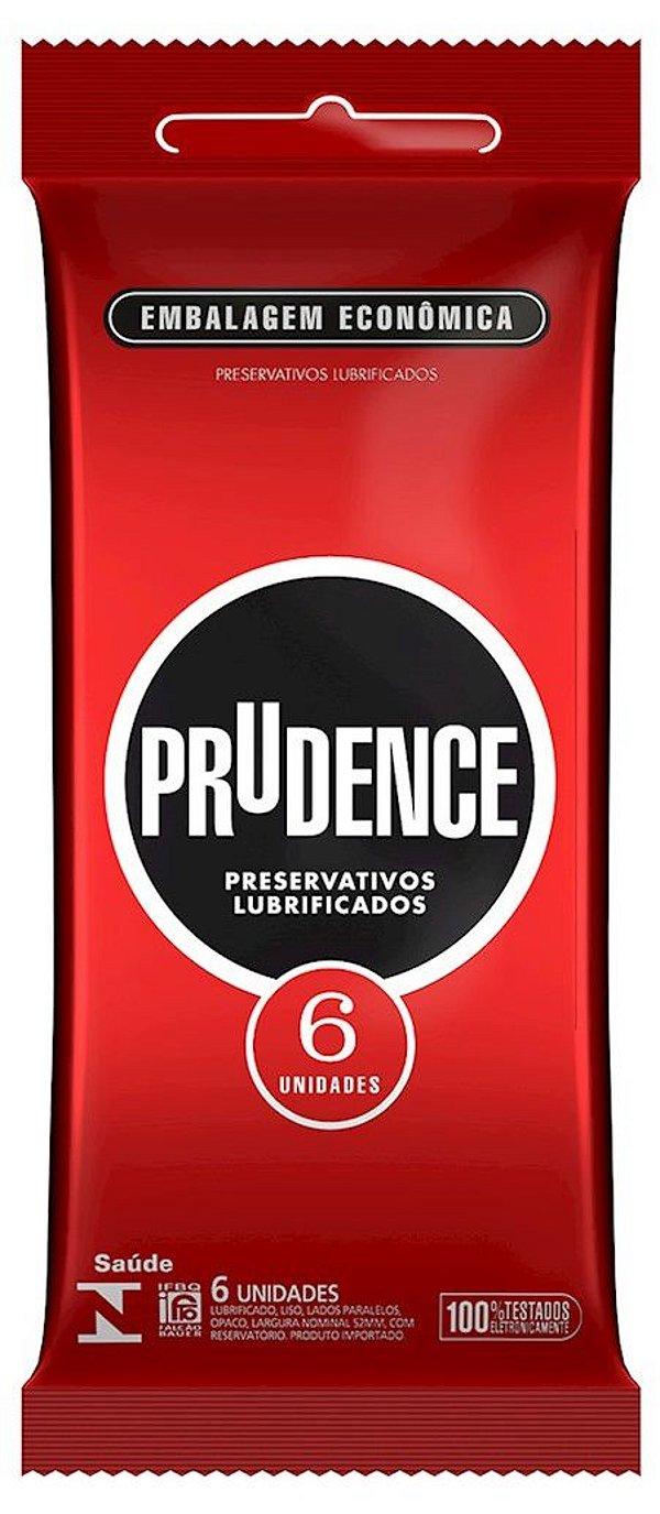 PRESERVATIVO LUBRIFICADO COM 6 UNIDADES PRUDENCE