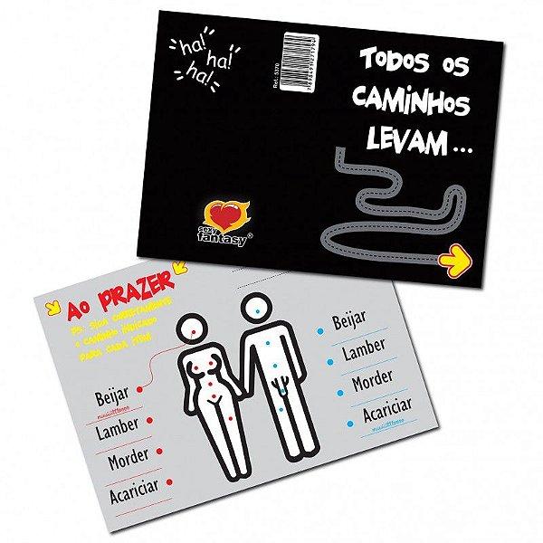 CARTÃO TODOS OS CAMINHOS LEVAM
