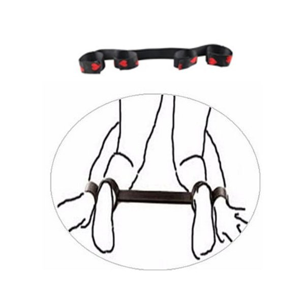 Bondage Kits Separador de Pernas e Punhos com detalhes de coração