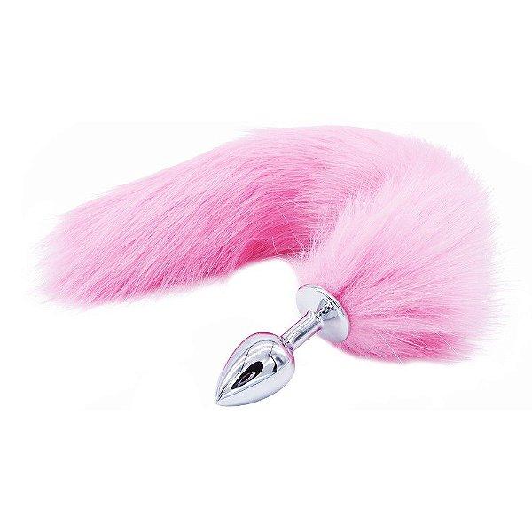 Plug Anal Rabo de Raposa - cor rosa