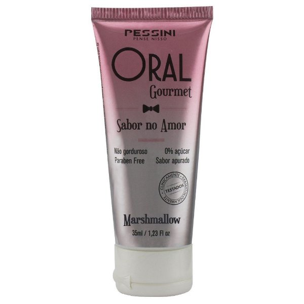 Oral Gourmet Sabor No Amor Gel Comestível 35ml Pessini - Sabor Marshmallow