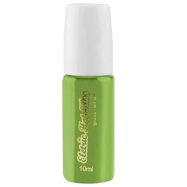 Gloss do beijo Gel Elétrico Hot Comestível 10ml - Uva Verde