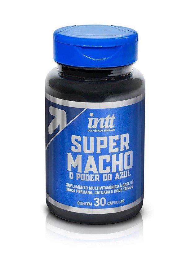 INTT SUPER MACHO - SUPLEMENTO MULTIVITAMÍNICO POTENCIALIZADOR MASCULINO COM PODER DO AZUL - 30 CÁPSULAS