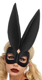 Leg Avenue Bad Bunny - Máscara de coelho preta