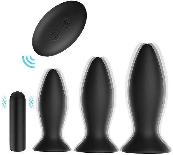 S-Hande Roar RCT - Kit Plug Anal Recarregável com controle remoto sem fio