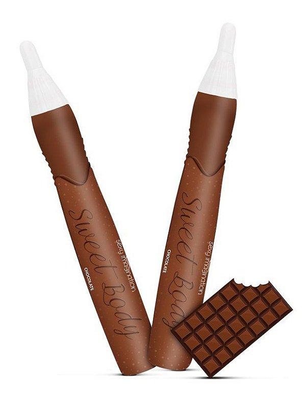 SWEET BODY - CANETA COMESTÍVEL - SABOR CHOCOLATE