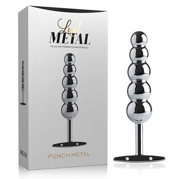 Lust Metal Plug Punch - Plug anal com puxador - cor prata