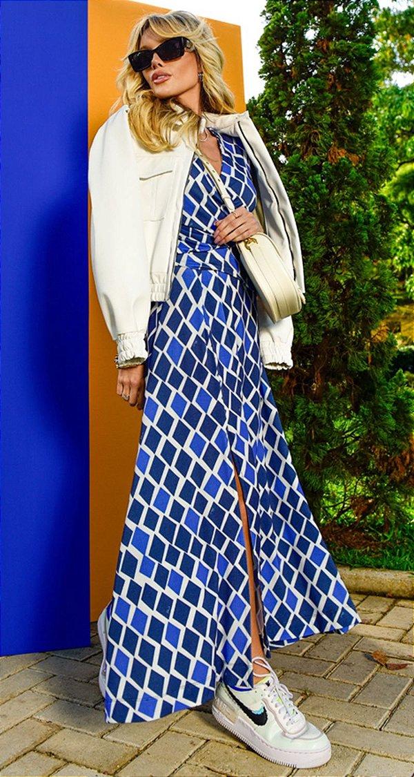 Vestido Transpassado c/ Pregas e Fenda Pipa | NEXT STOP BLESSED