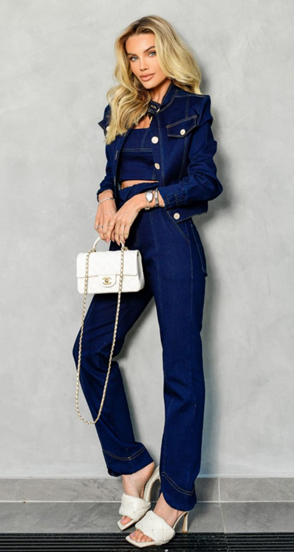 Calça Malha Jeans New York   NEXT STOP BLESSED