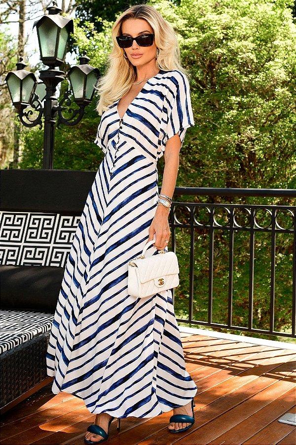 Vestido Striped Listrado Blue Beach   NEXT STOP BLESSED