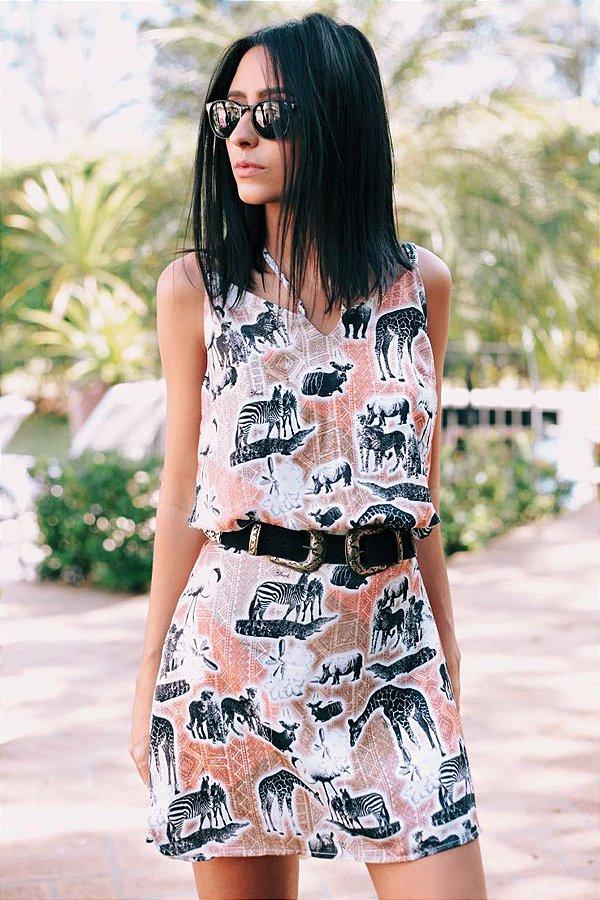 SALE| Vestido Safari Trançado Costas