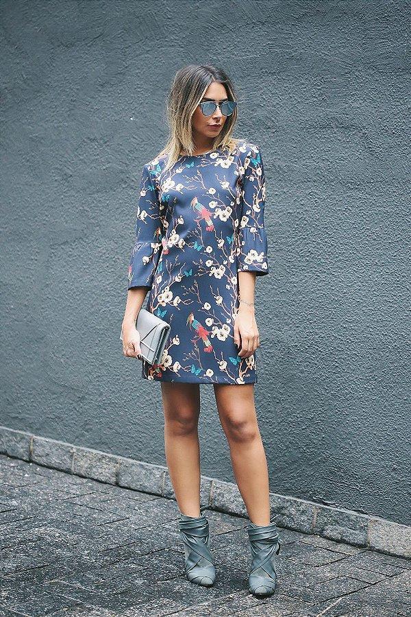 Vestido Japonese Flores