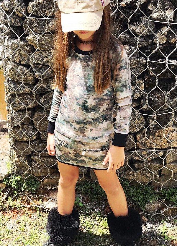 Vestido Camuflado e Estrela Blessinha